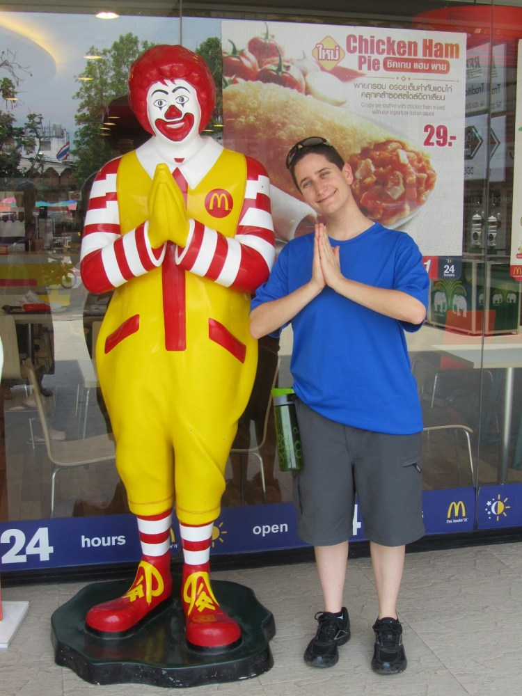 Impressions of Chiang Mai - Mindy with Ronald McDonald