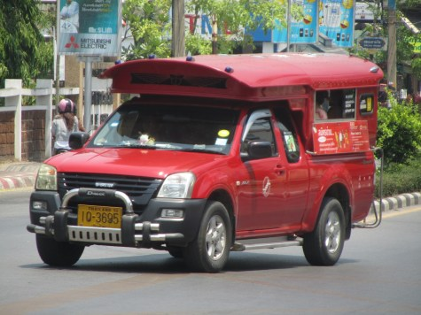 Impressions of Chiang Mai - Song Thaew - Red Truck Taxi