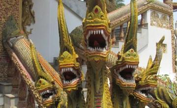Naga Statue at Temple in Chiang Mai
