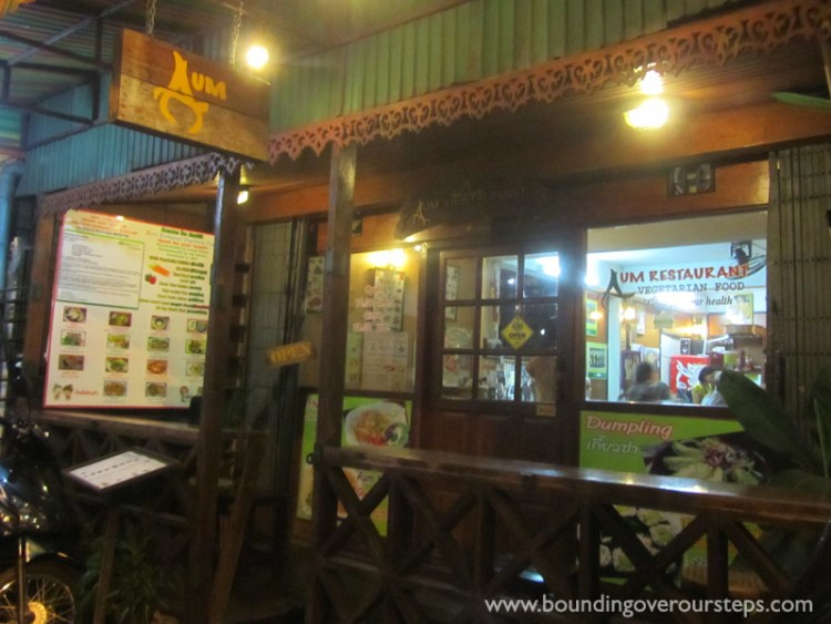 Front Entrance of AUM Vegetarian Restaurant in Chiang Mai, Thailand