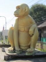 Golden monkey statue in Lopburi, Thailand