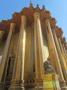 Gilded building at Grand Palace in Bangkok, Thailand