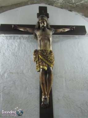Sculpture of Jesus on the Cross in San Agustin Church Intramuros Manila