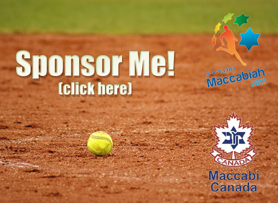 Sponsor me to play softball at the Maccabi Games