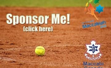 Sponsor me to play softball at the Maccabi Games