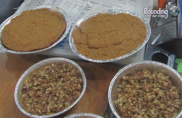 Vegan Sweet Potato Pie and Vegan Apple Crisp at our Vegan Thanksgiving