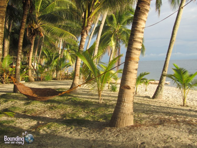 Relaxing in hammocks in Donsol, Philippines - with or without whale sharks