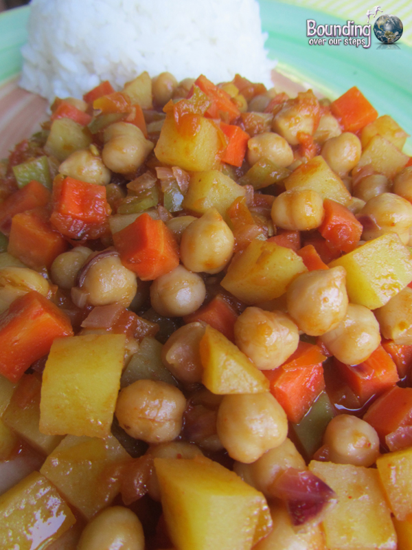 Vegan Chickpea Curry with Pineapple in Bohol, Philippines