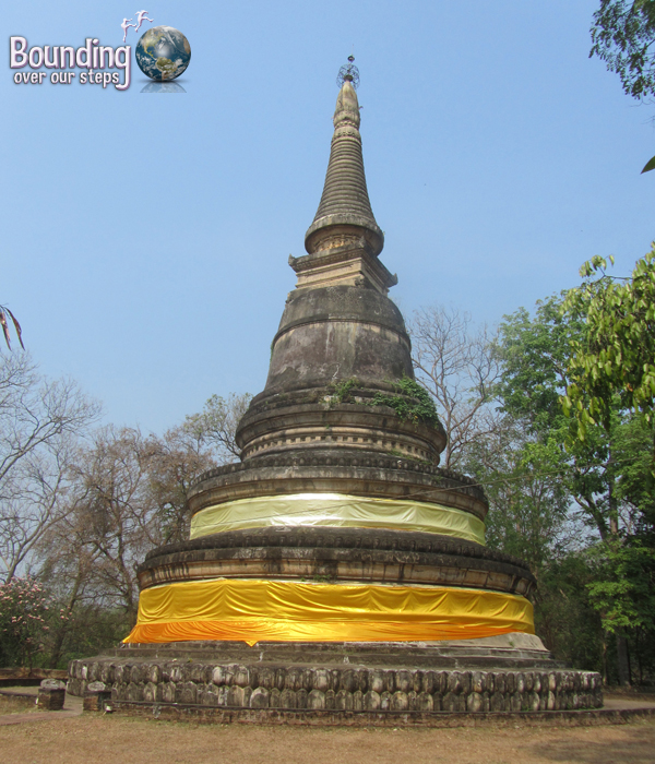 Golden stupa at Wat Umong in Chiang Mai, Thailand