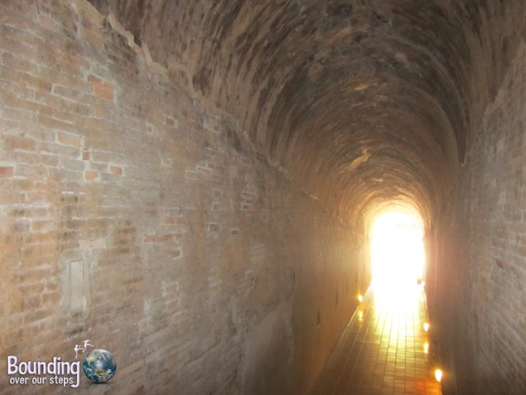 Deep inside the tunnels of Wat Umong in Chiang Mai, Thailand