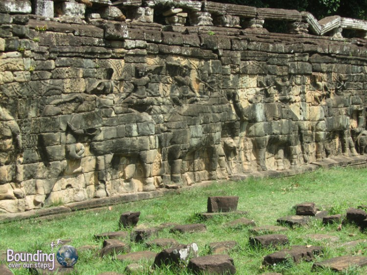 The gorgeous Elephant Terrace at Angkor Wat, Cambodia