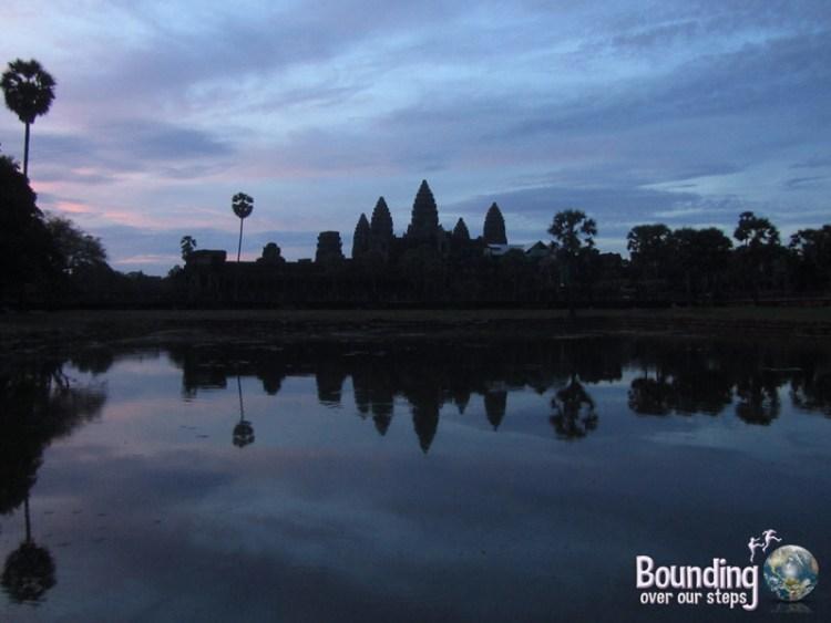 Sunrise over the pool at Angkor Wat, Cambodia