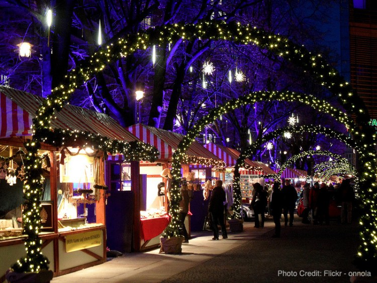 A Christmas Market or Weihnachtsmarkt in Berlin