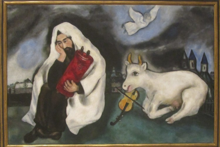 "Chagall painting entitled ""Solitude"""