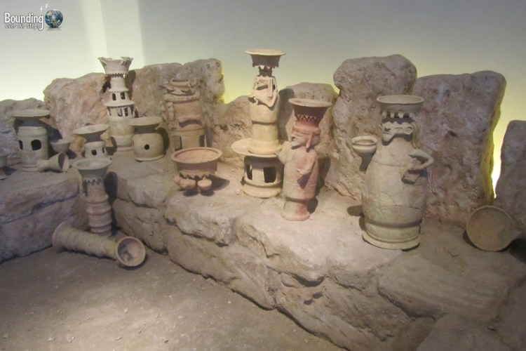 Ancient pottery at the Israel Museum in Jerusalem