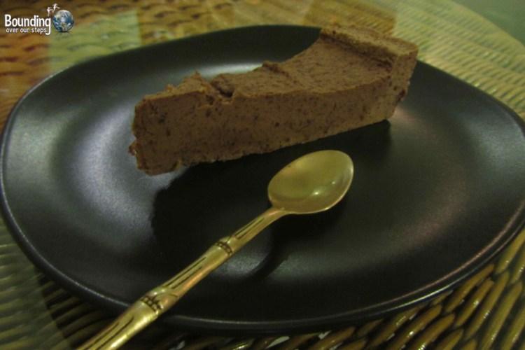 Decadent chocolate torte at Giva Raw Vegan Restaurant