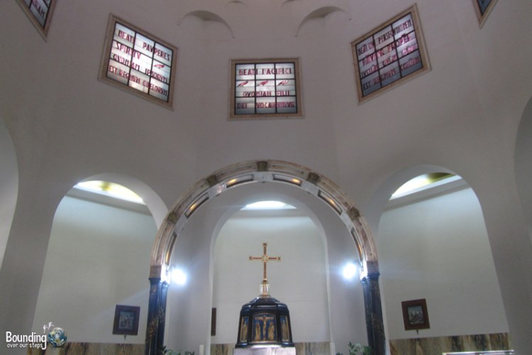 Church of the Beatitudes at the Sea of Galilee in Israel