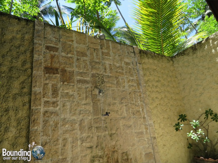 Island View Bungalows - Gili Air, Indonesia - Open Air Shower