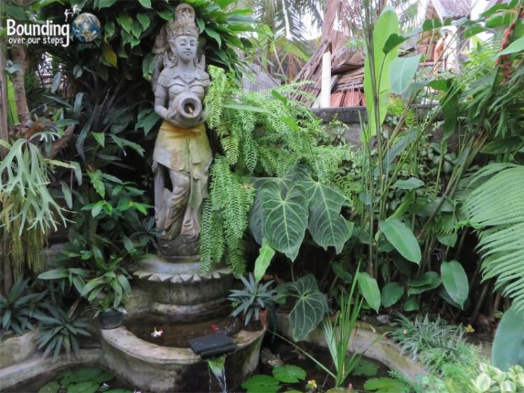 Enjoy the peaceful gardens during Nyepi
