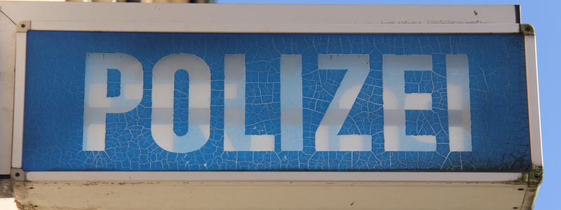 German Holding Cell - Police Sign