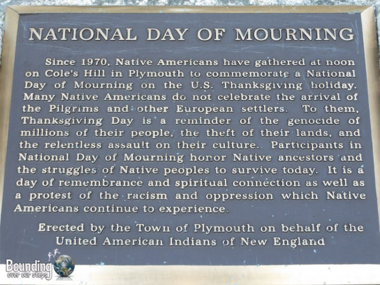 Pilgrim Rock - National Day of Mourning