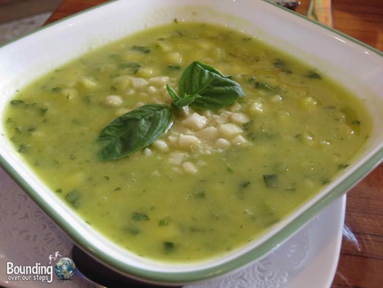 Leafy Greens Cafe - Raw Vegan Pineapple Gazpacho