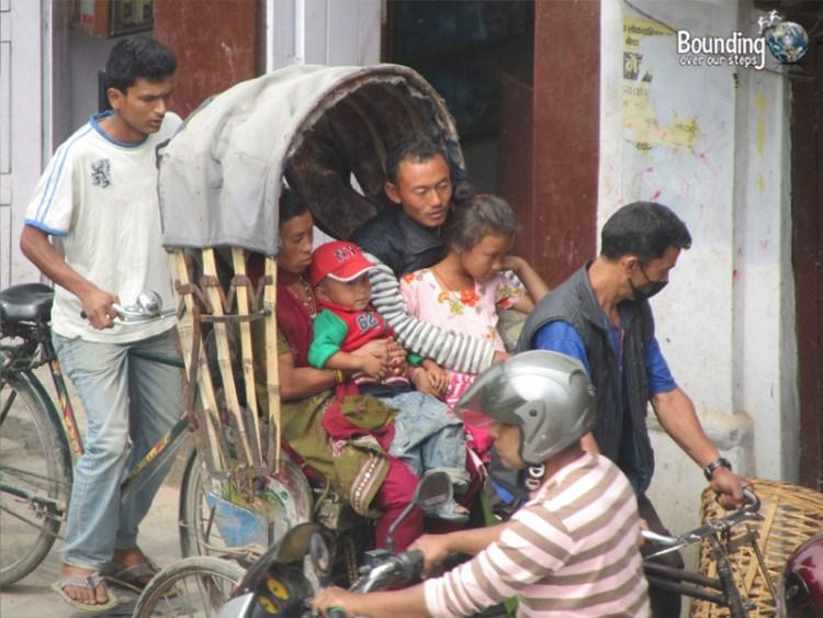 People of Nepal - Rickshaw