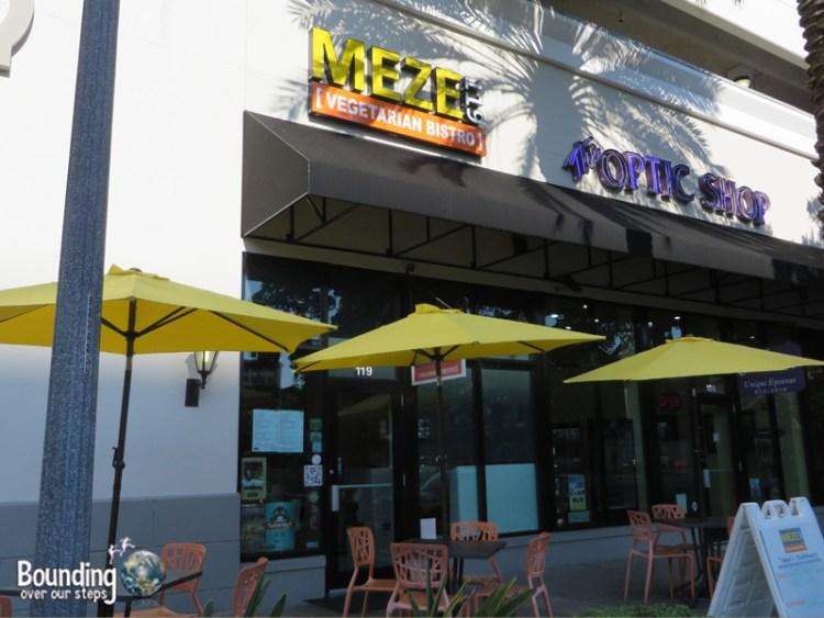 Meze Vegetarian Restaurant - Patio