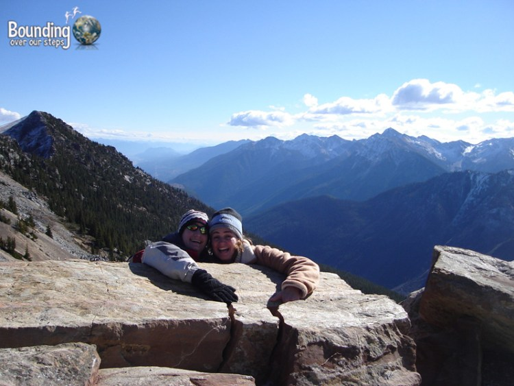 Having fun in the Rocky Mountains on our honeymoon