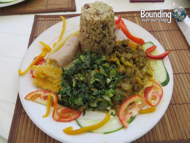 Vegan in Jamaica - Ital Food - Rice and Pigeon Peas