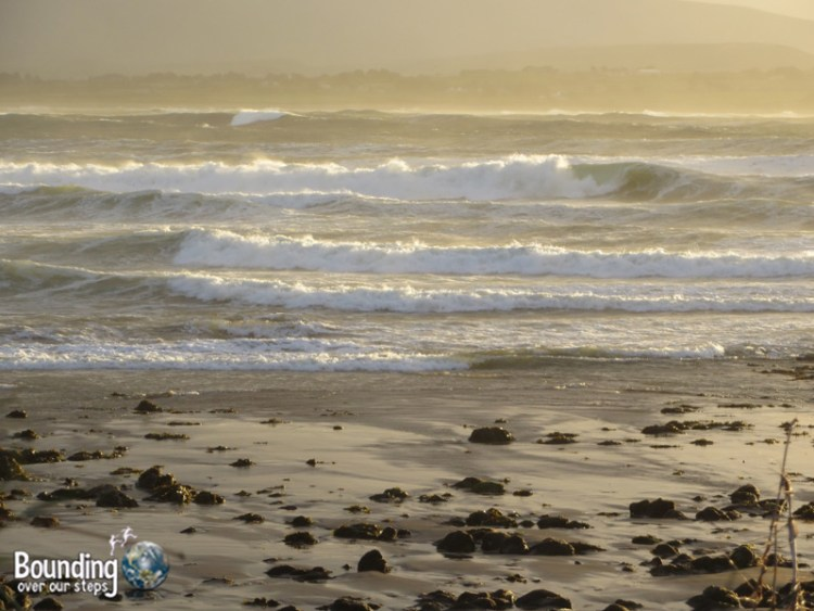 The Atlantic Ocean in Strandhill at sunset