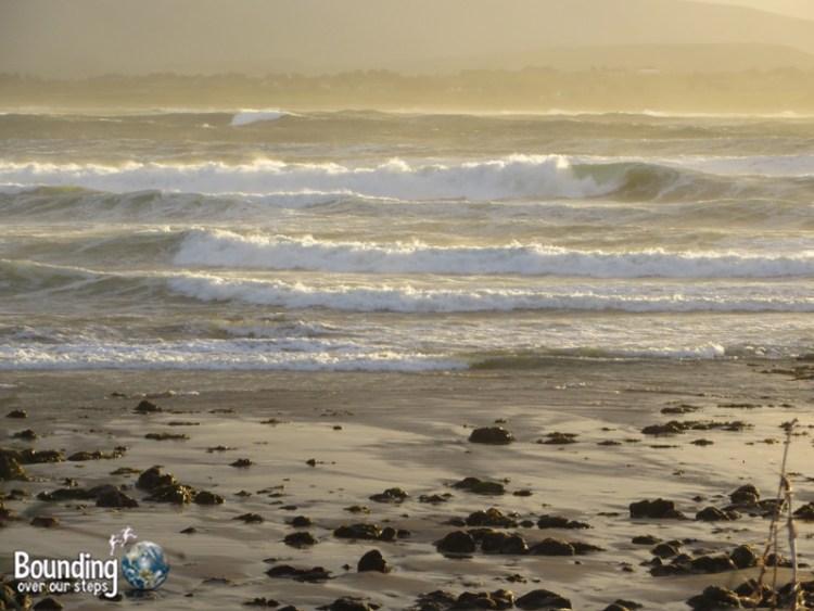 The Atlantic Ocean in Strandhill at sunset