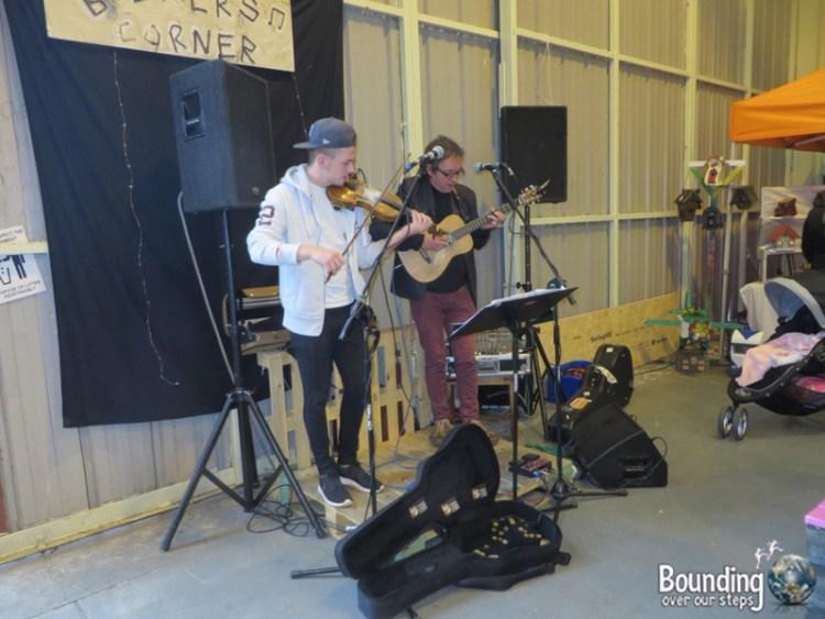 Musicians' Corner at Strandhill's People's Market