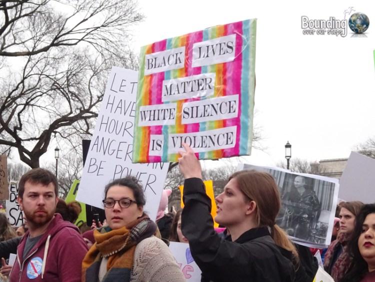 Womens March DC - Black Lives Matter Sign