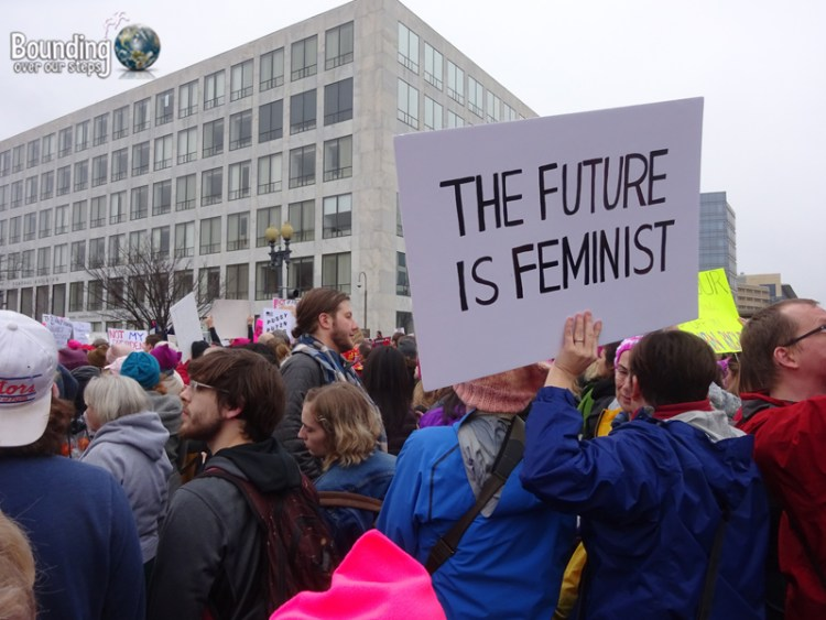 Womens March DC - Future is Feminist Sign