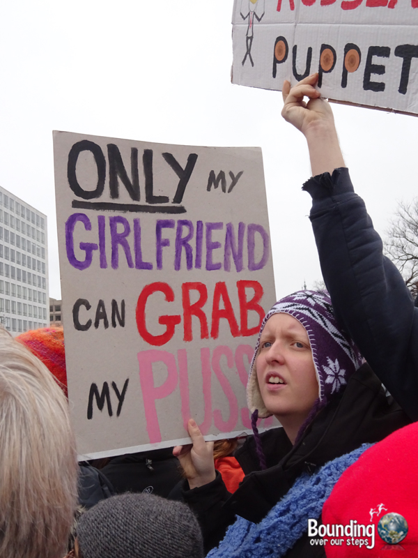 Womens March DC - Girlfriend Pussy Grab Sign