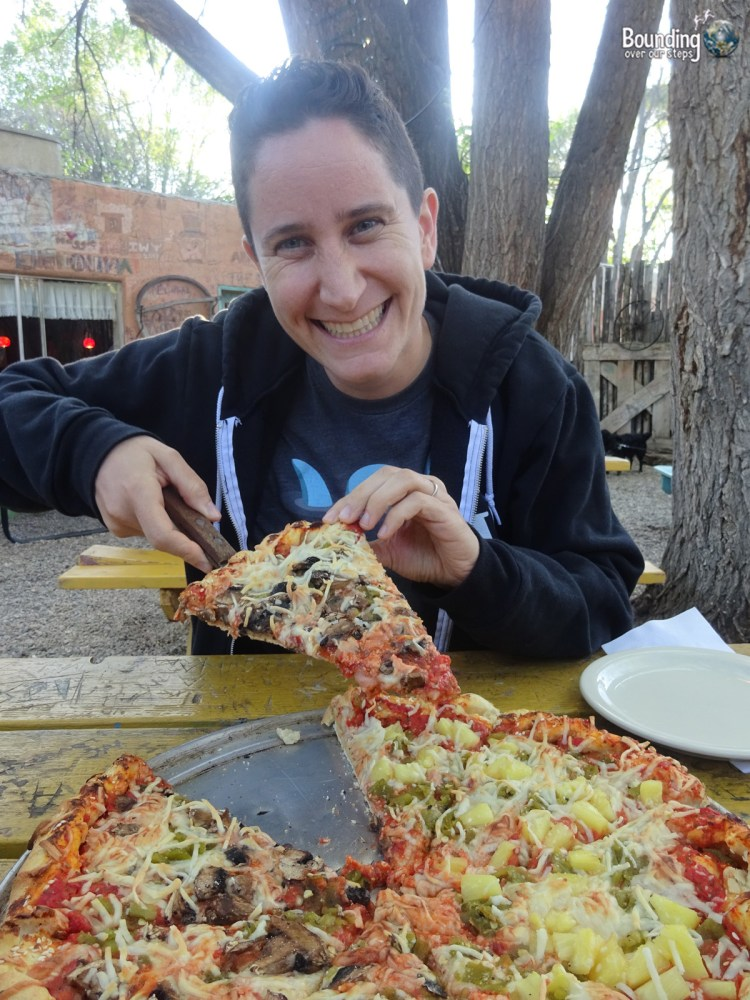 Vegan in Northern New Mexico - Out Back Pizza