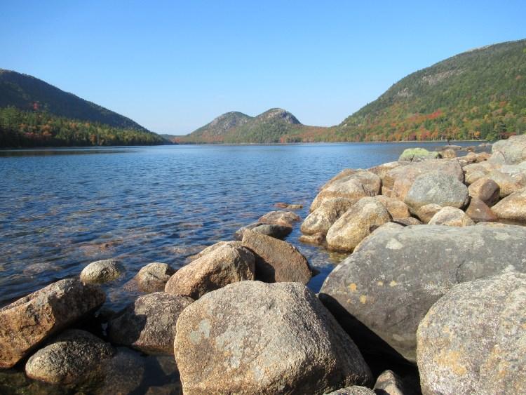 Jordan Pond Acadia National Park - Rocks of Jordan Pond