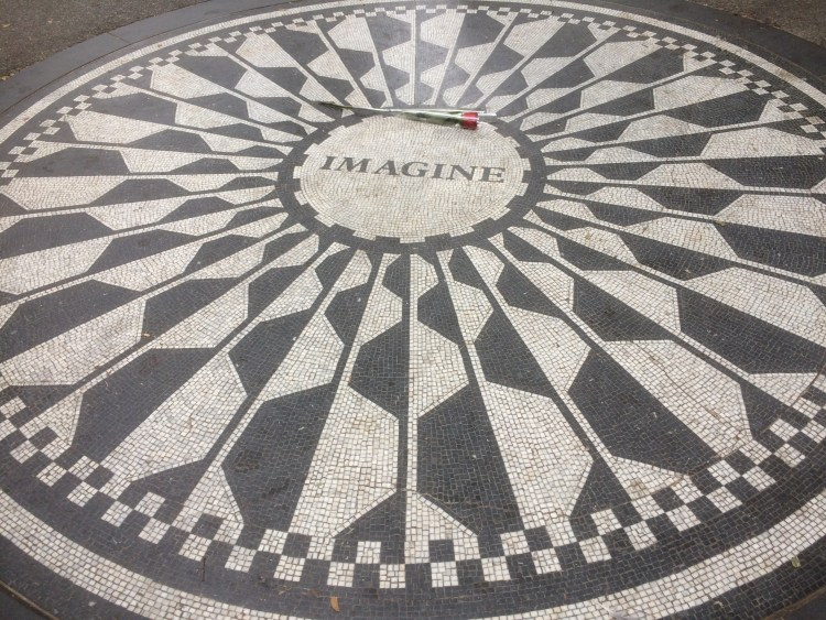 Vegan Weekend in NYC - Imagine Mosaic in Central Park