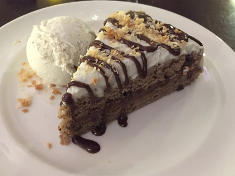 Our Vegan Weekend in NYC - Banana Chocolate Cake from Candle Cafe