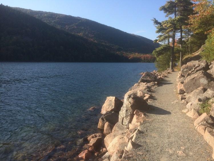Jordan Pond Acadia National Park - Boardwalk on Jordan Pond