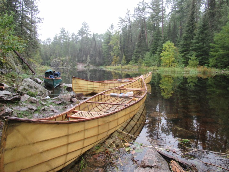 Beautiful handmade canoes made by Urban Boatbuilders in St. Paul, Minnesota
