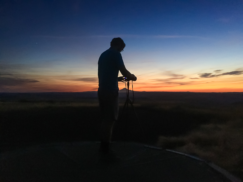 Sunset at viewpoint with Mt. Hood on the horizon. Oregon. Boundless-Journey