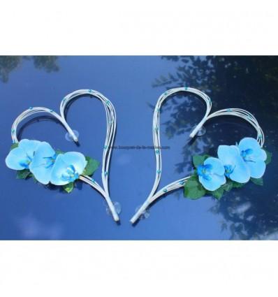 Curs De Mariage Bleu Turquoise Blanc Orchides Avec Des