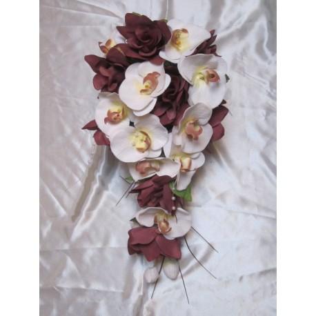 Bouquet De Marie Cascade Thme Orchide Chocolat Belles