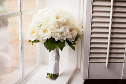 all white classic bouquet hydrangea
