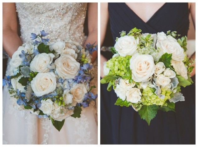 navy blue personal flowers