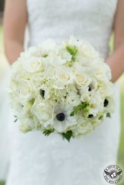 Anemone all white bouquet