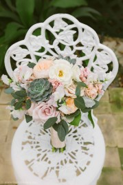 Ivory succulent blush bouquet
