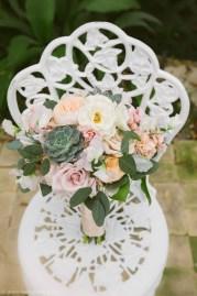 Ivory succulent blush bouquet